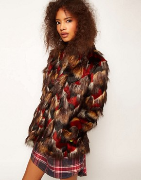 Image 1 ofASOS Multicolour Patchwork Coat