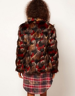 Image 2 ofASOS Multicolour Patchwork Coat