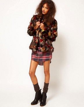 Image 4 ofASOS Multicolour Patchwork Coat