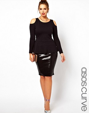 Image 1 ofASOS CURVE Pencil Skirt In Sequin