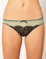 Playful Promises Absinthe Green Eyelash Lace Brief