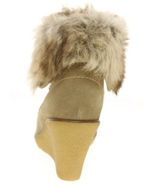Image 2 ofALDO Peasnall faux fur wedge ankle boot