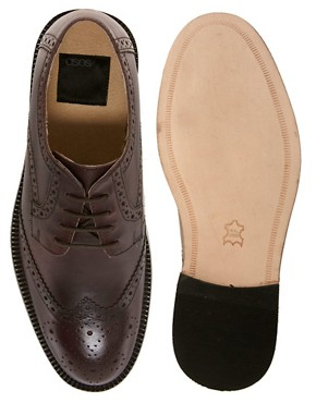 Image 3 ofASOS Brogues With Leather Sole