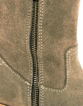 Image 2 ofH by Hudson Riley Double Zip Mid Heel Boots