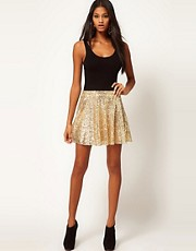 ASOS Skater Skirt in Sequin