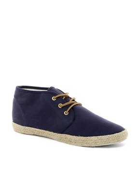Image 1 ofASOS Canvas Chukka Boots With Jute Wrap