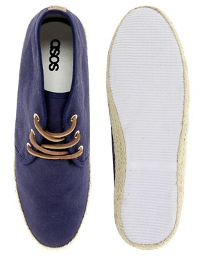 Image 3 ofASOS Canvas Chukka Boots With Jute Wrap