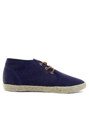 Image 4 ofASOS Canvas Chukka Boots With Jute Wrap
