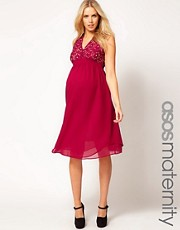 ASOS Maternity Midi Dress With Embellishment