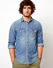 Camisa vaquera con lavado vintage de Denim & Supply By Ralph Lauren