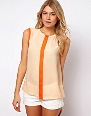 Ted Baker Chicah Blouse with Neon Trim