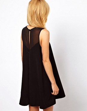 Image 2 ofASOS Swing Playsuit with Sheer Panels