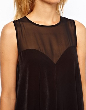 Image 3 ofASOS Swing Playsuit with Sheer Panels