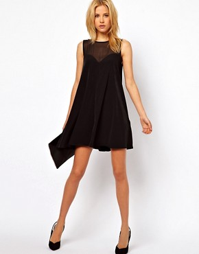 Image 4 ofASOS Swing Playsuit with Sheer Panels