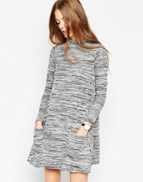 ASOS Swing Dress with Pockets in Space Dye