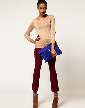 Image 3 ofASOS Suede Large Envelope Clutch Bag
