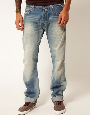 Image 1 ofReplay Jeans Jennon Low Straight Fit Light Sunfaded