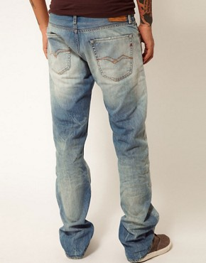 Image 2 ofReplay Jeans Jennon Low Straight Fit Light Sunfaded