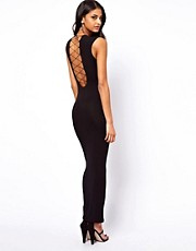 ASOS Maxi Dress With Lace Up Back