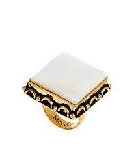 Mango Square Stone Ring