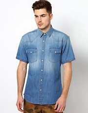 Selected Denim Short Sleeve Shirt