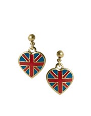 Pendientes largos con bandera britnica de Cath Kidston