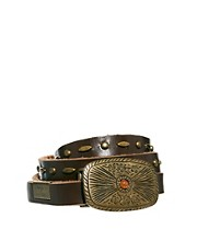Pepe Jeans Big Buckle Leather Belt