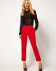 ASOS Crepe Cropped Trousers