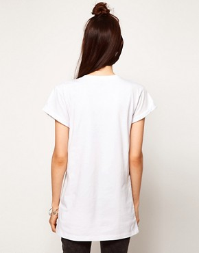 Image 2 ofASOS T-Shirt with Stud Shoulder
