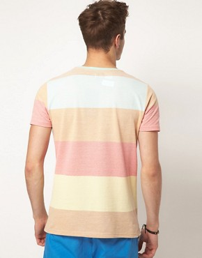 Image 2 ofASOS Stripe T-Shirt With Pique Fabric
