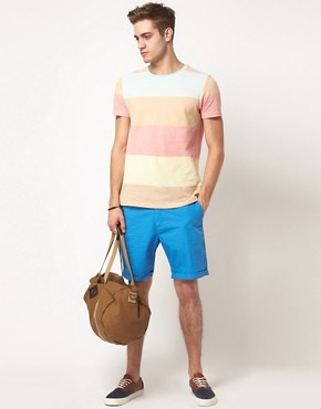 Image 4 ofASOS Stripe T-Shirt With Pique Fabric