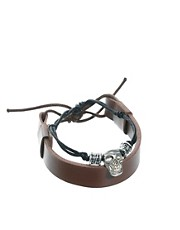 ASOS Skull And Band Bracelet Pack