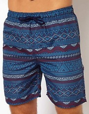 Shorts de bao con diseo azteca de New Look