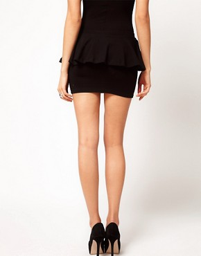 Image 2 ofASOS PETITE Exclusive Mini Skirt With Peplum