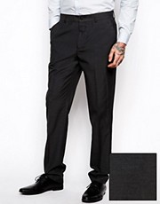 ASOS Slim Fit Suit Trousers In Charcoal