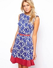 Oasis Mexican Tile Print Dress