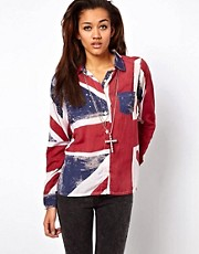 Religion Union Jack Shirt-Asos Exclusive