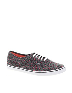Image 1 ofVans Lo Pro Grey/Pink Leopard Lace Up Trainers