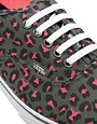 Image 2 of Vans Lo Pro Gray/Pink Leopard Lace Up Sneakers