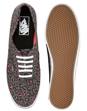 Image 4 ofVans Lo Pro Grey/Pink Leopard Lace Up Trainers