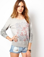 Maison Scotch Long Sleeve Sweatshirt with Print