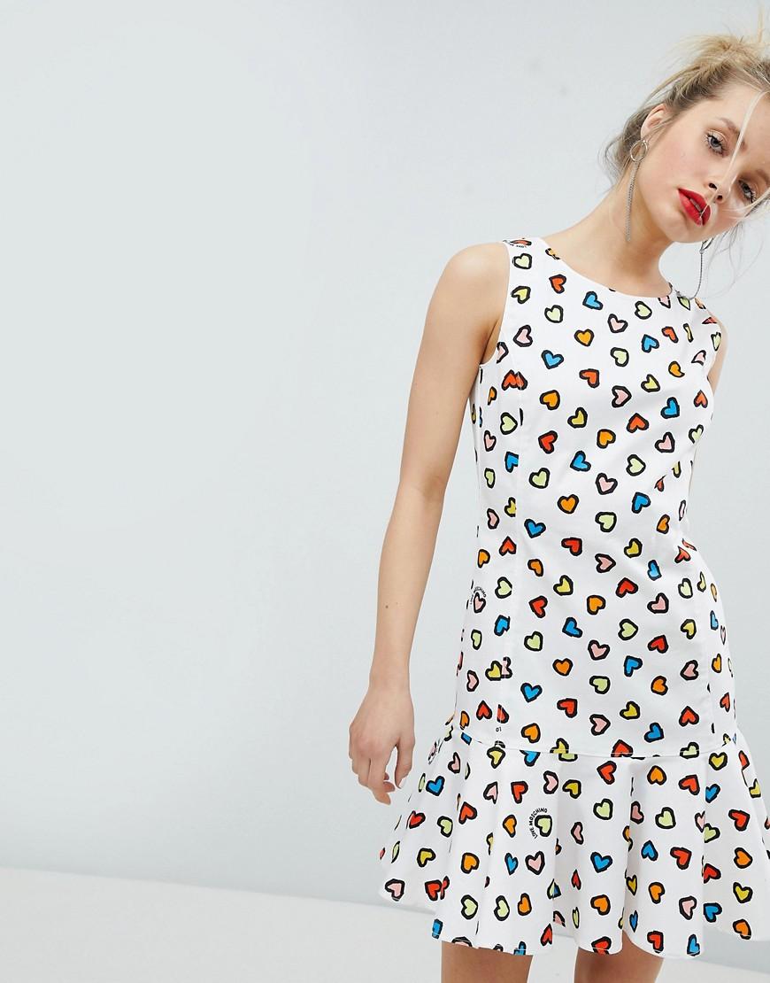 Imagen principal de producto de Vestido con estampado de corazón de Love Moschino - Moschino