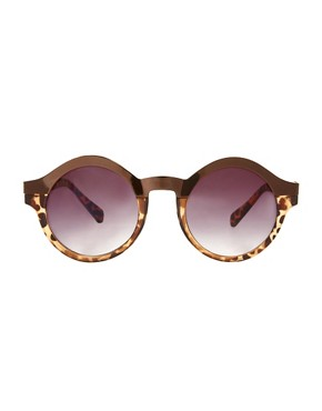 Image 2 ofASOS Metal Top Keyhole Round Sunglasses