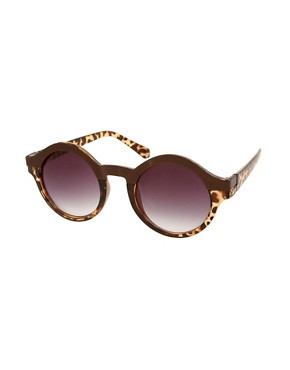Image 1 ofASOS Metal Top Keyhole Round Sunglasses
