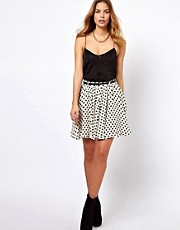 Glamorous Belted Mini Skirt In Daisy Print