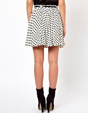 Image 2 ofGlamorous Belted Mini Skirt In Daisy Print