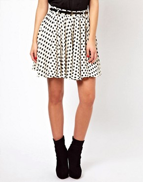 Image 4 ofGlamorous Belted Mini Skirt In Daisy Print