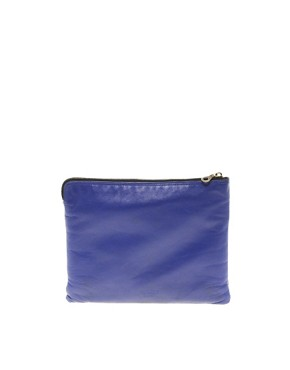 Image 1 ofJas MB Leather Bright Clutch Bag