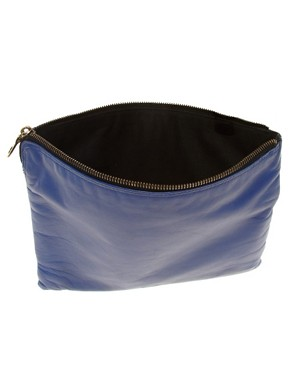 Image 2 ofJas MB Leather Bright Clutch Bag