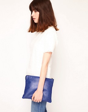 Image 3 ofJas MB Leather Bright Clutch Bag